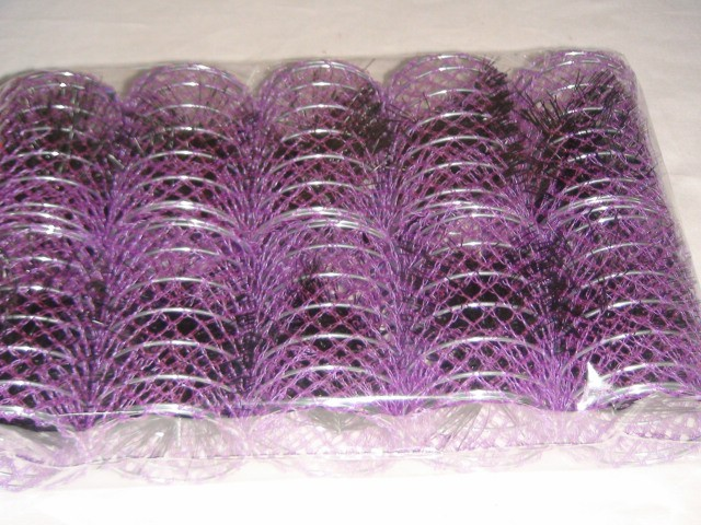 Бигуди с шпильками 6,5*4,5 см., металл, пластик ( цена за 10 штук )