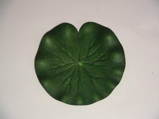"""Растение водоплавающее """"Лист Лотоса"""" D=10 см., пвх, 1 штука."""