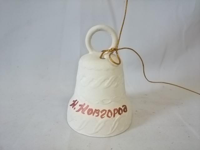"""Колокольчик сувенирный """"НИЖНИЙ НОВГОРОД"""", 9 см, керамика."""