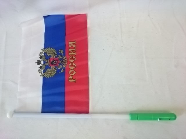 Флаг триколор / герб 20*28 см, светящийся.