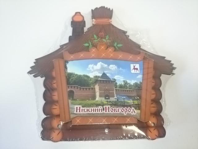 """Ключница """"Нижний Новгород"""", дерево, 14 Х 14 см."""