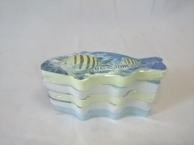 """Полотенце прессованное """"рыбка"""", 26*53 см, цена за 5 штук."""