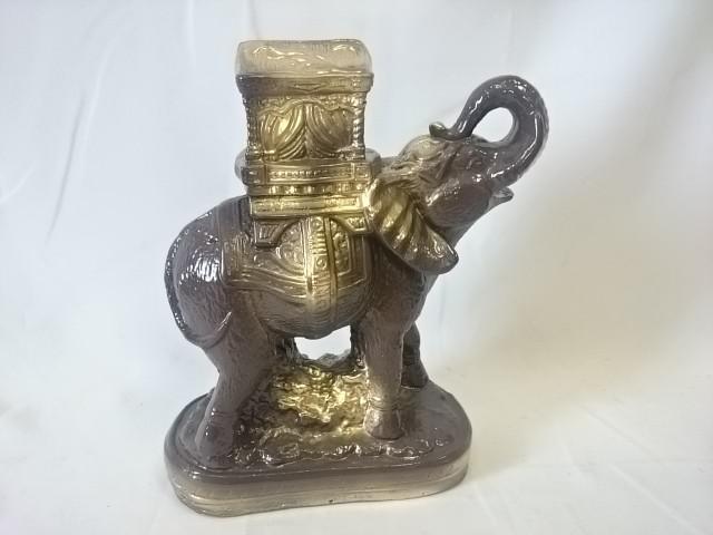 Копилка Слон Богатство коричневый с золотом, 20 х 27 см, гипс.