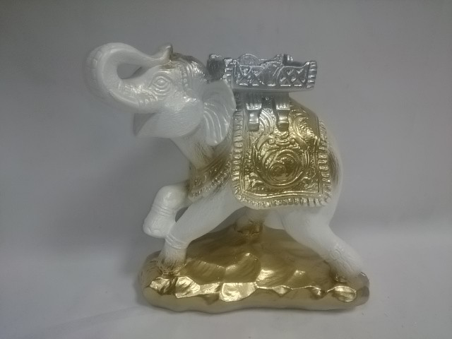 "Копилка ""Слон - Удача"" белый, 25 х 25 см, гипс."