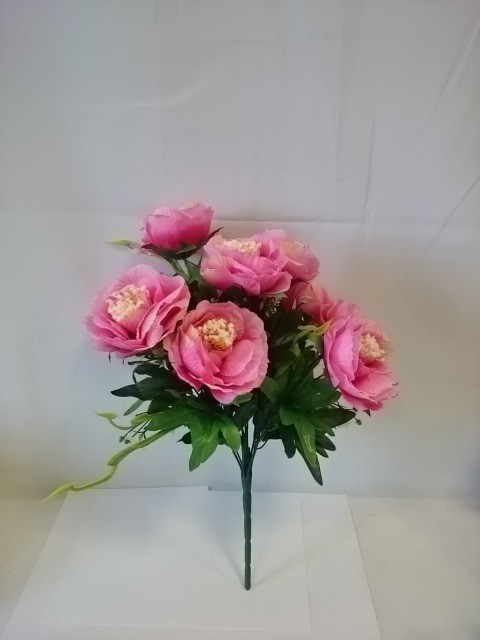 Букет камелий, 44 см, цена за 1 букет, цвет - розовый.