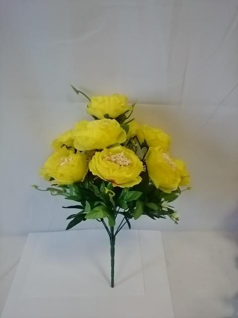 Букет камелий, 44 см, цена за 1 букет, цвет - жёлтый.