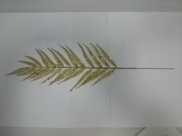 Лист ивы с цветным металлическим напылением, 43 см, 1 штука.