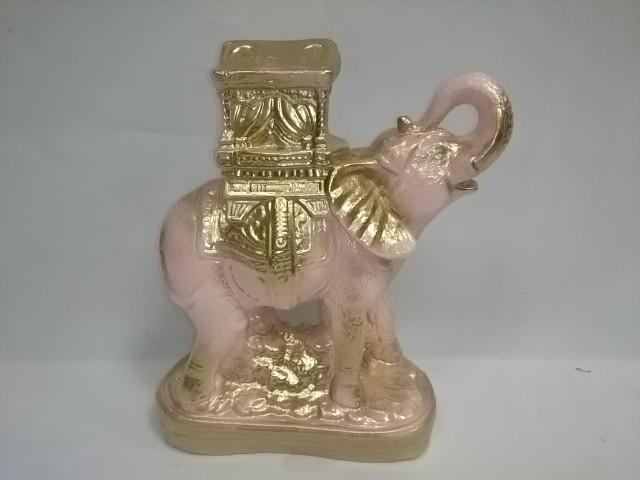 Копилка Слон Богатство розый с золотом, 20 х 27 см, гипс.