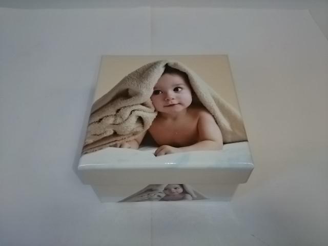 Коробка - Квадрат Ретро, 9,5*9,5*5,5 см.