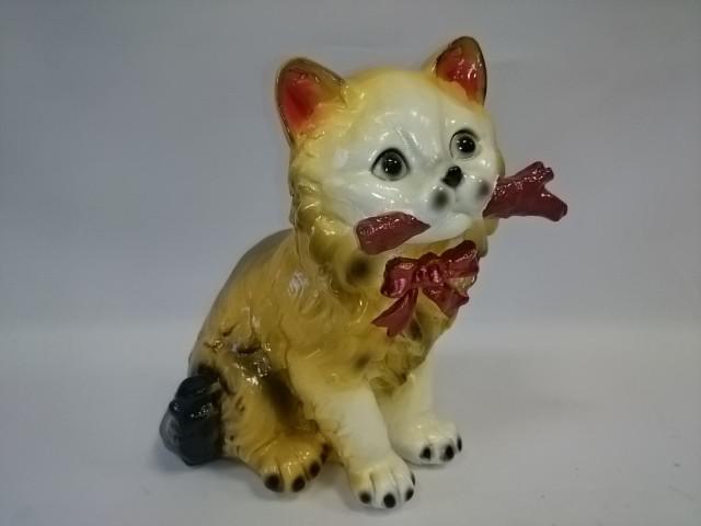 """Копилка """"Кошка с палкой"""", 20 см, гипс, цветная."""