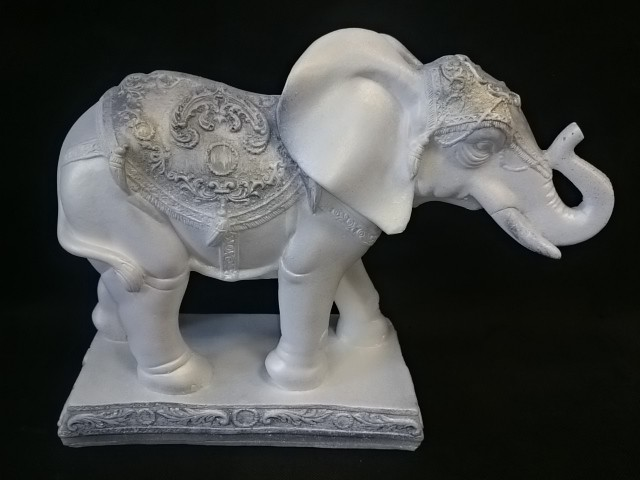 """Копилка """"Слон - Удача"""" античный, 27*30 см, гипс."""