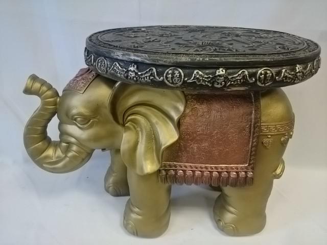 Стол - Слон большой, 42*58 см, бронза с золотом, гипс.