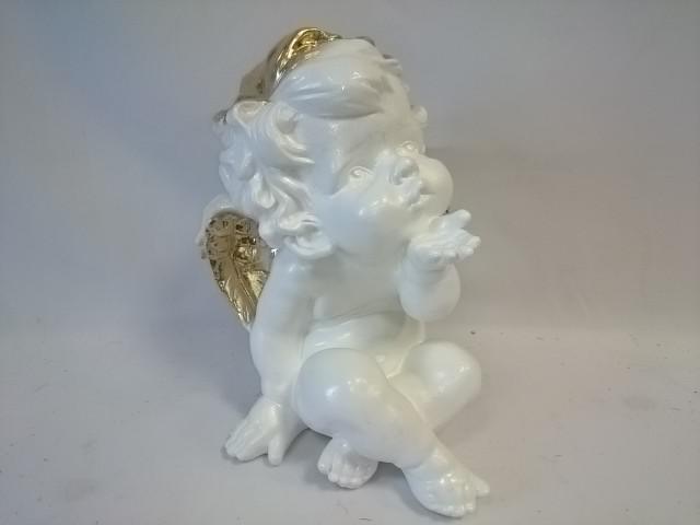 """Сувенир """"Ангел"""" 29*20 см, бело-золотистый."""