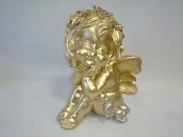 """Сувенир """"Фея"""" золото, 17 см, гипс."""