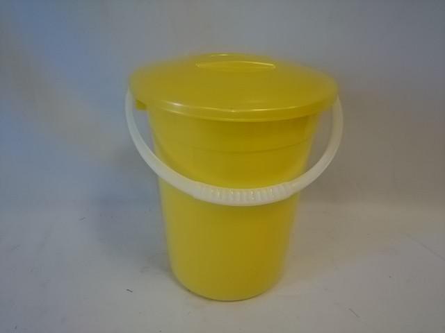 Ведро с крышкой пищевое 5 литров евро, жёлтое
