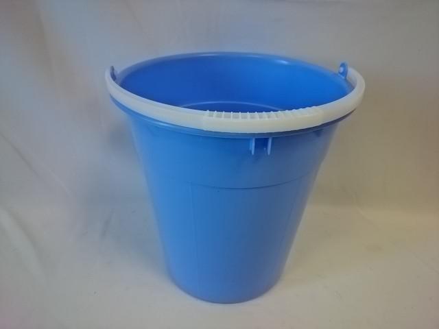 Ведро 12 литров евро пищевое, голубое