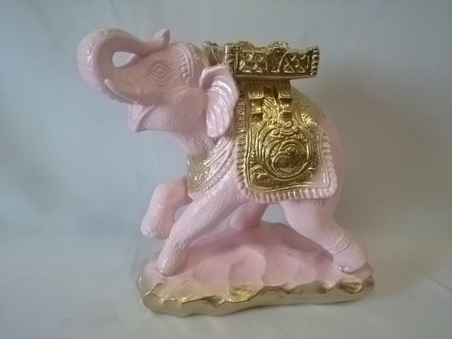 "Копилка ""Слон - Удача"" розовый, 25 х 25 см, гипс."