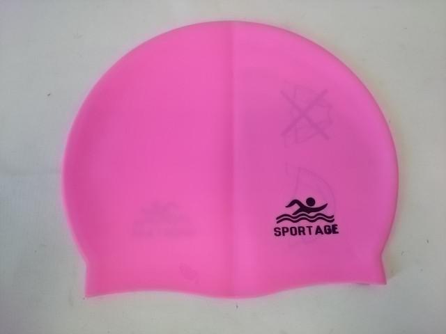 Шапочка для плавания розовая силиконовая