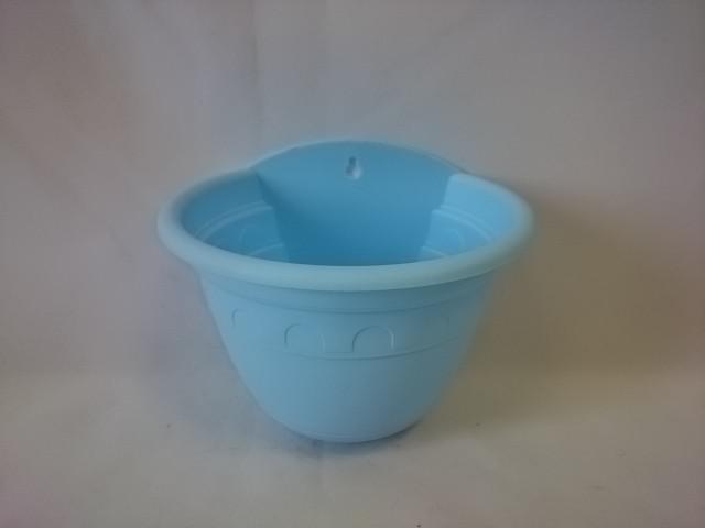 Кашпо 0,95 литра, d-16 см, настенное, цвет - голубой.