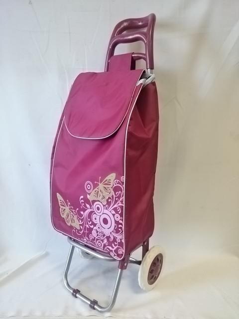 Тележка хозяйственная с сумкой, 95*30*33 см, колёса 16 см, грузоподъёмность до 30 кг.