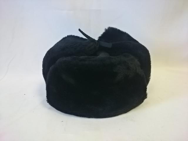 Шапка - ушанка, размер 62, цвет - чёрный.