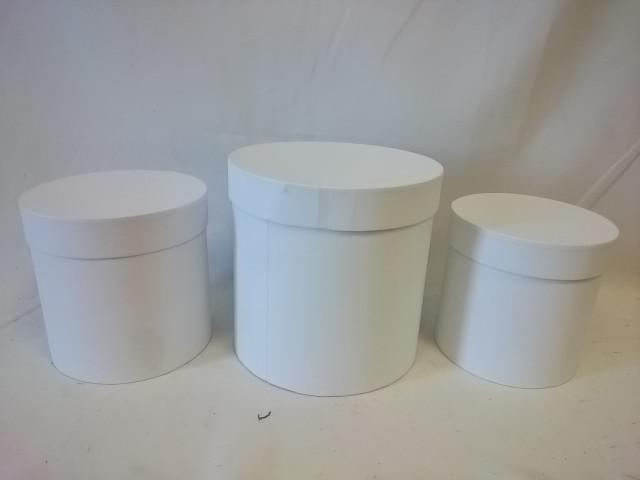 """Набор коробок из 3 штук """"Цилиндр"""", 20*20 см, 17*17 см, 15*15 см, картон."""
