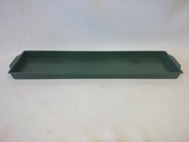 Поддон для оазиса, 48*12 см, зелёный.