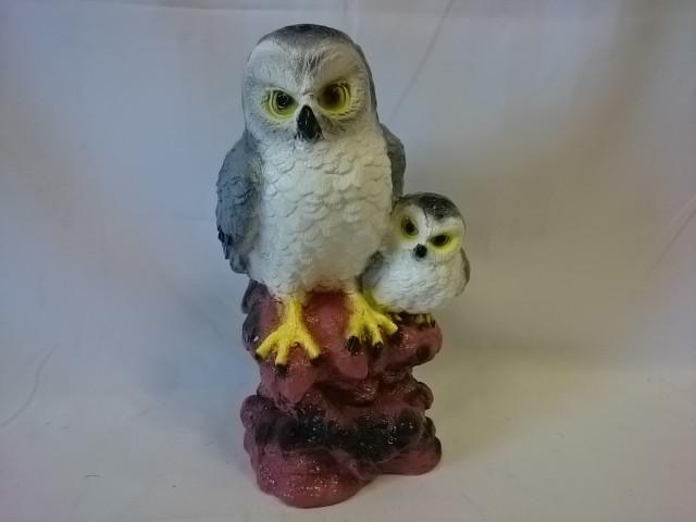 """Копилка """"Две совы на дереве"""" серые, 37 см"""