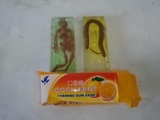 """Лизун """"жвачка фруктовая"""", 8 х 3 х 2 см, 1 штука."""