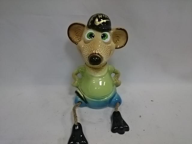 """Копилка """"Мышка-мальчик"""", 21 см, керамика."""