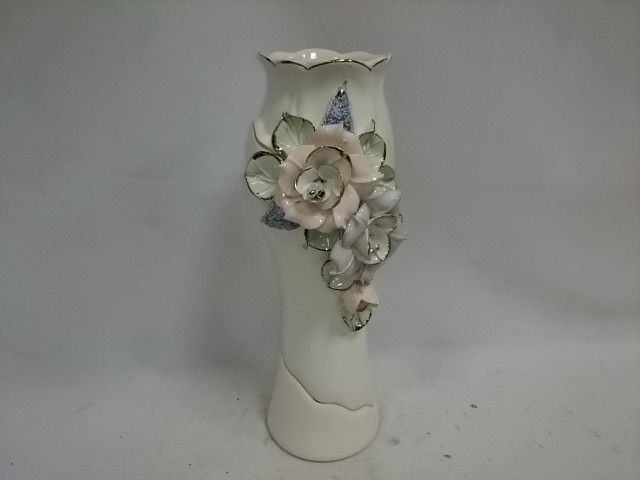 "Ваза средняя ""Азалия"" цветная лепка, 32 см, керамика."