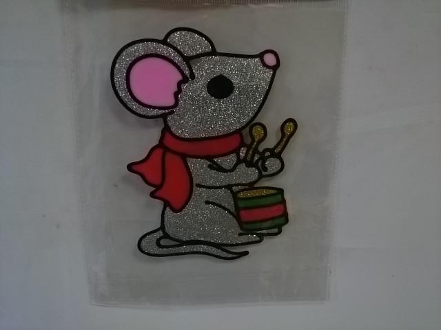 """Наклейка на стекло """"Мышка"""", 20 см."""