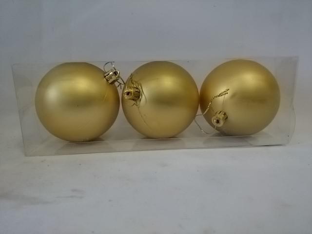Новогодние шары, d - 8 см, набор из 3 штук.