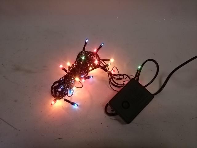Гирлянда для дома 3 м, 30 ламп, мультицвет, чёрный провод.