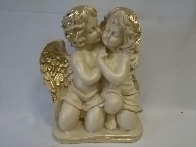 Сувенир Два ангела большие, 44 х 32 см, гипс.