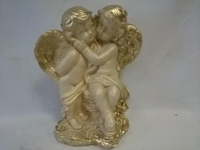 """Сувенир """"Два ангела средние"""", 36 х 28 см, гипс."""