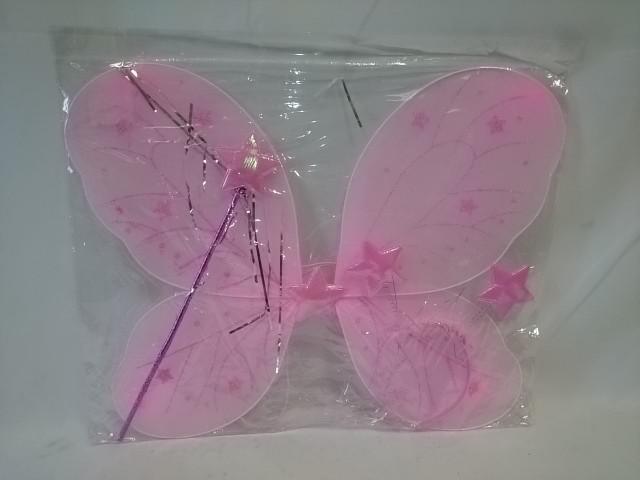 """Карнавальный набор из 3 предметов """"Фея"""" : крылья, палочка, ободок."""