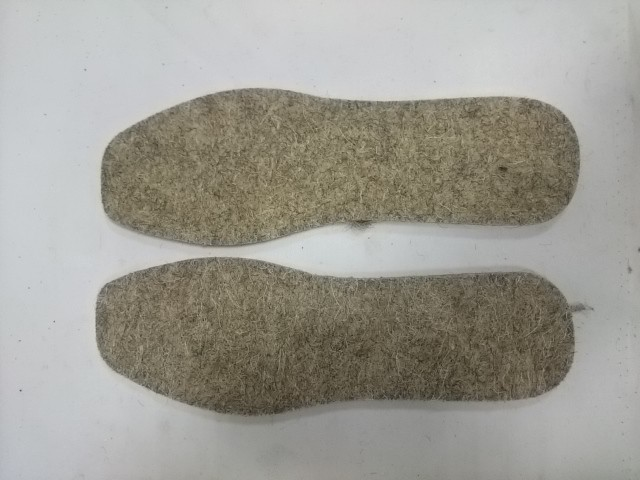 Стельки зимние из войлока, 5 мм, р-р 38.