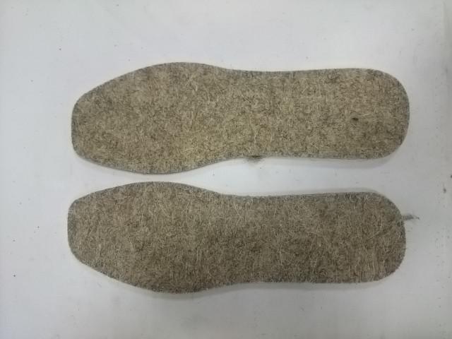 Стельки зимние из войлока, 5 мм, р-р 39.