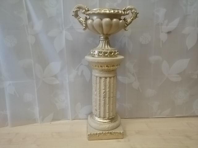 Комплект: колонна + ваза, h-72 см, гипс.