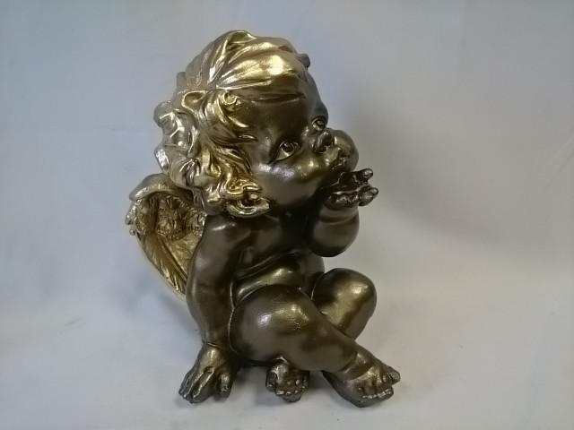 """Сувенир """"Ангел"""" 29*20 см, бронза/золото."""