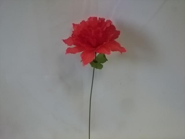 Нарцисс одиночный, h - 32 см, d головы - 12 см, пластик, ткань, цвет - красный. ВЫПИСЫВАТЬ КРАТНО 20 ШТУКАМ.