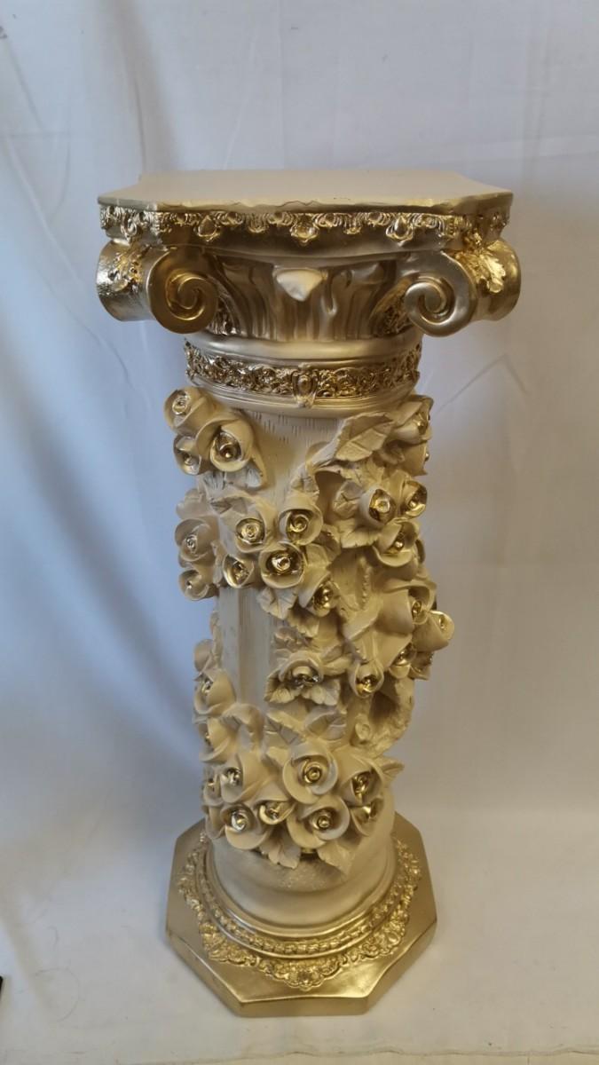 """Колонна """"Афина"""", h-89 см, цвет - слоновая кость, гипс."""