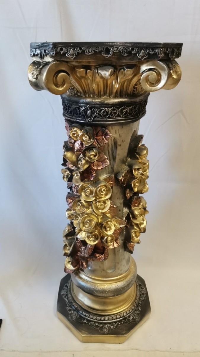"""Колонна """"Афина"""", h-89 см, цвет - бронза с золотом, гипс."""