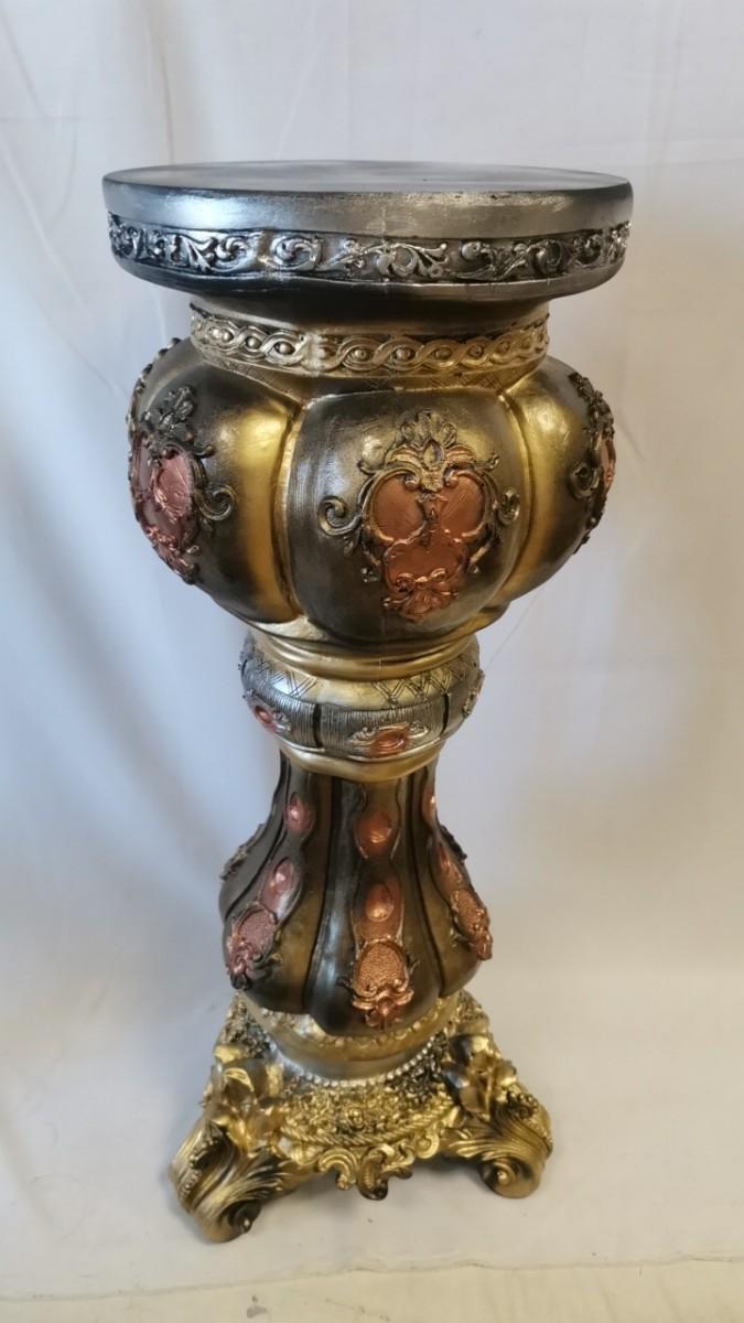 """Колонна """"Клеопатра"""", h-90 см, цвет - бронза с золотом, гипс."""
