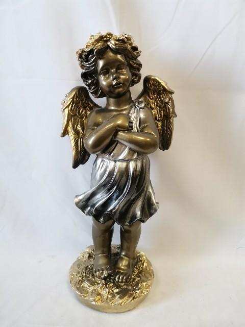 Ангел с венком, 50 см, бронза с золотом, гипс.