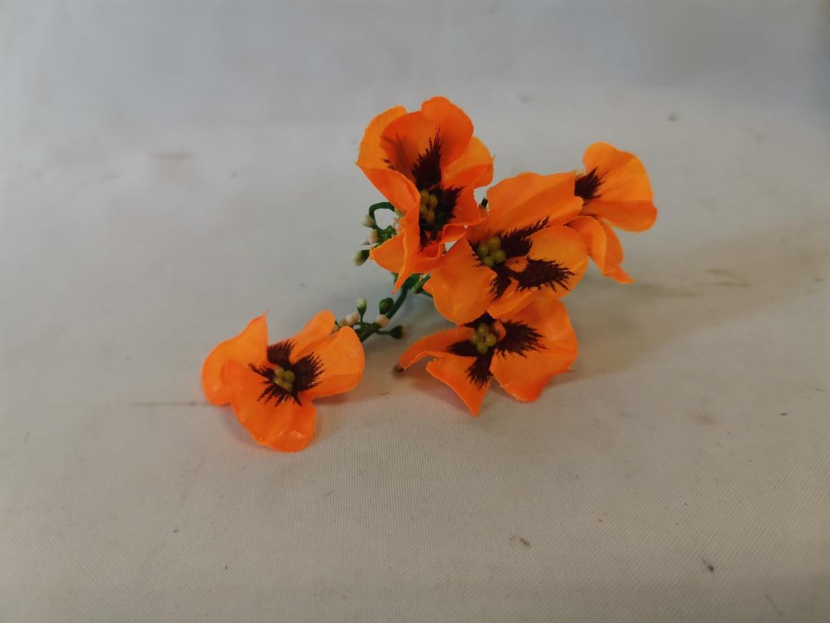 """Насадка """"соцветие анютиных глазок"""", 10 см, 1 штука, цвет - оранжевый."""