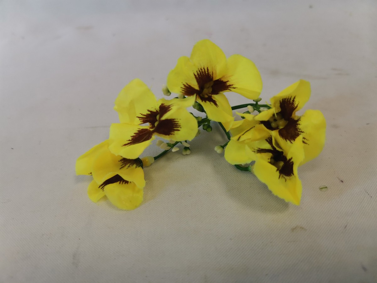 """Насадка """"соцветие анютиных глазок"""", 10 см, 1 штука, цвет - жёлтый."""