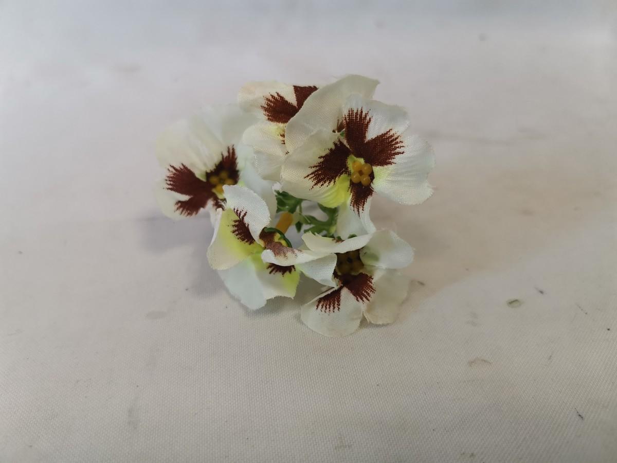 """Насадка """"соцветие анютиных глазок"""", 10 см, 1 штука, цвет - белый."""