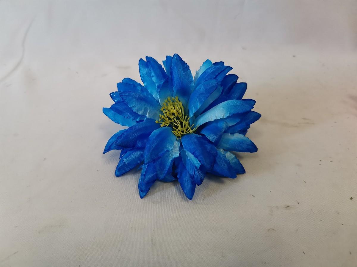 """Насадка """"хризантема"""", 14 см, 6 сл, атласная, 1 штука, цвет - синий. ВЫПИСЫВАТЬ КРАТНО 20 ШТУКАМ."""